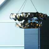 Eucalyptus Chandelier Double Tier Round