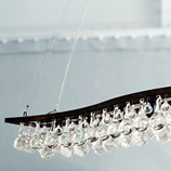 Pear Chandelier Single Wave