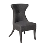 Dark Linen Dining Chair
