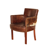 Newark Vintage Leather Chair - Tricolor Moo