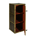 Rob Roy Tall Storage - Loden leather & Red Jacquard Lining