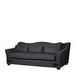 Sofa Curve-3-Seate - Linen Charcoal