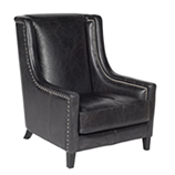 Leather Lounger - Black